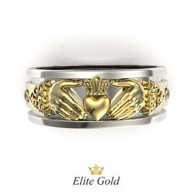 обручальное кладдахское кольцо eternity
