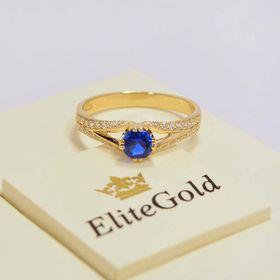 кольцо Bluebell в лимонном золоте 585