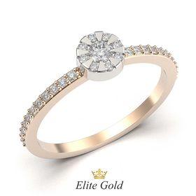 кольцо Brianna в красном и белом золоте