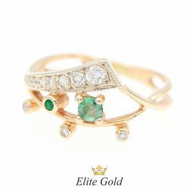 кольцо Samirra с изумрудами и бриллиантами