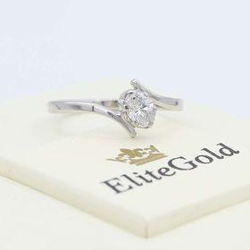 кольцо Lily в белом золоте 585
