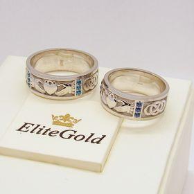 кладдахские обручальные кольца в золоте
