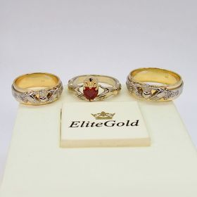 кладдахские кольца Eternity с камнями, а также кольцо Red Heart Petite