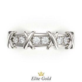кольцо Caroline в белом золоте - вид сверху