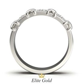 кольцо Caroline в белом золоте - вид сбоку