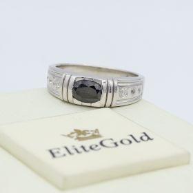 мужской перстень Alvaro с чернением в белом золоте