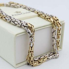 византийская цепь в белом и лимонном золоте 585