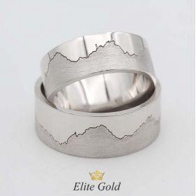 в белом золоте без камней