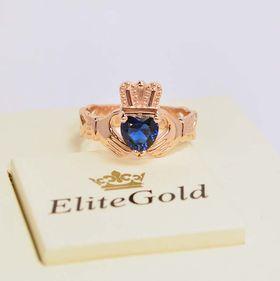 Кладдахское кольцо для помолвки в красном золоте