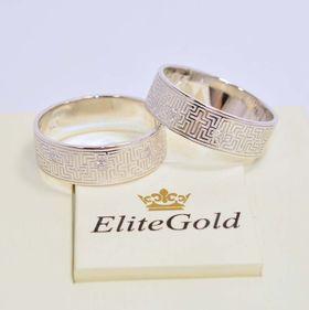 модификация - кольцо в белом золоте с добавлением камней