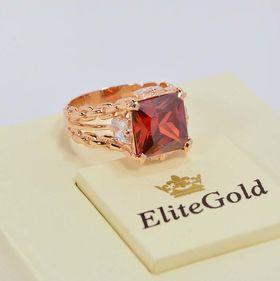 перстень Fatum с красным камнем в центре