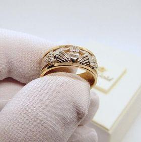 обручальное кладдахское кольцо фото