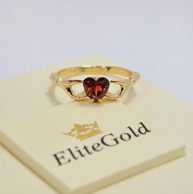 Кладдахское кольцо Heart с красным камнем