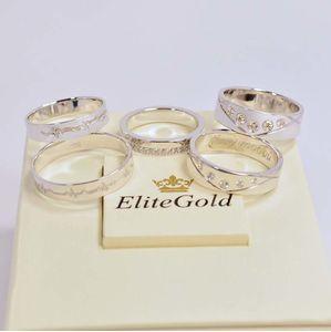 набор колец в белом золоте