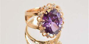 женское кольцо с большим камнем обзор