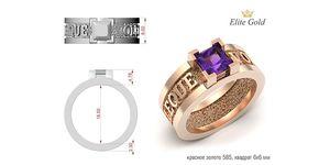 кольцо мужское sint sant