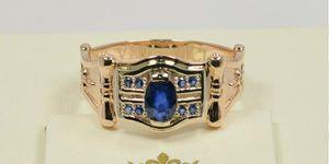 ювелирные украшения со вставками синего цвета