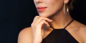 женские серьги кольца
