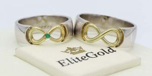 кольца обручальные с бесконечностью