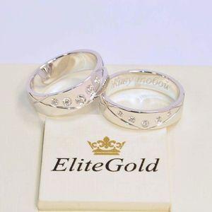 кольца в белом золоте