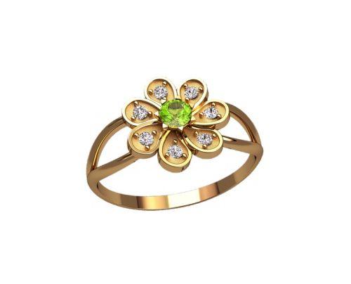 кольцо в видео ромашки