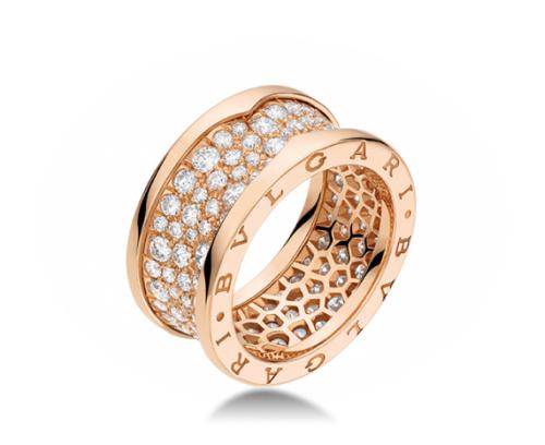 кольцо в стиле булгари zero1 с бриллиантами