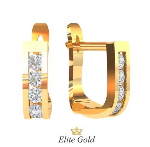 сережки Emilia с английской застежкой в красном золоте 585