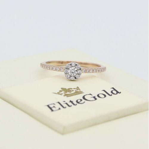кольцо Brianna в 2 цветах золота