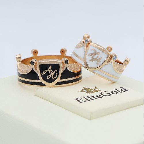 обручальные кольца в виде короны с шириной 10 мм