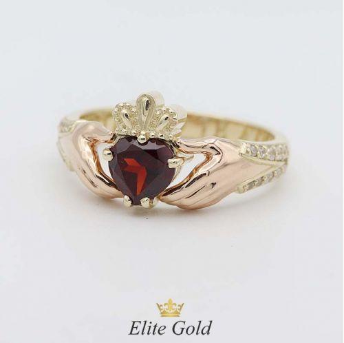 кольцо Beloved в лимонном и красном золоте 585