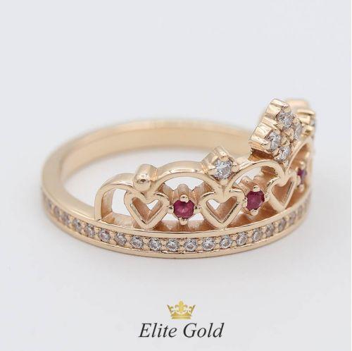 в красном золоте с бриллиантами, рубинами, фианитами