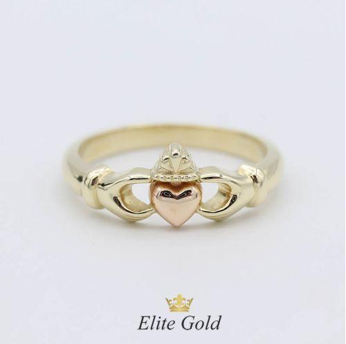 Кладдахское (ирландское) кольцо Pink Heart Celtic