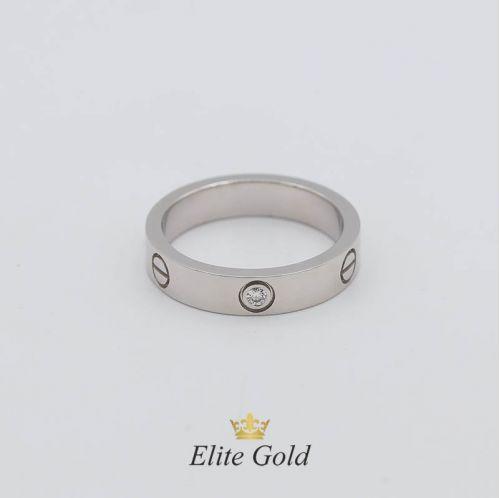 Кольцо в стиле Cartier Love Small в белом золоте