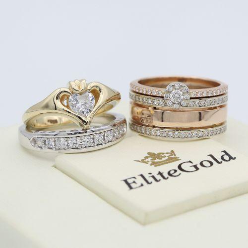 кольцо Keira с белым камнем и другиим изделиями от EliteGold