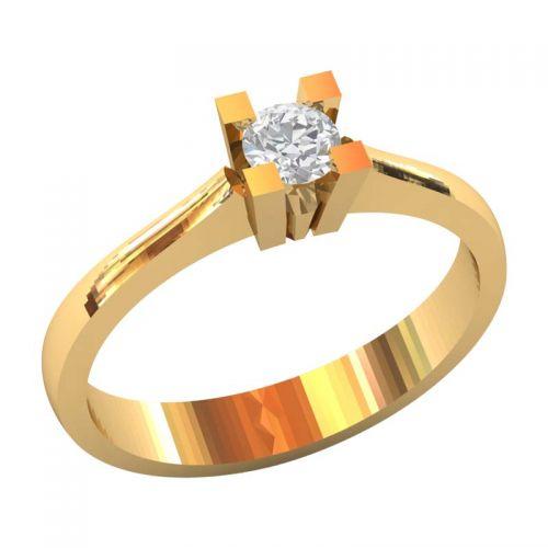 классическое кольцо для помолвки