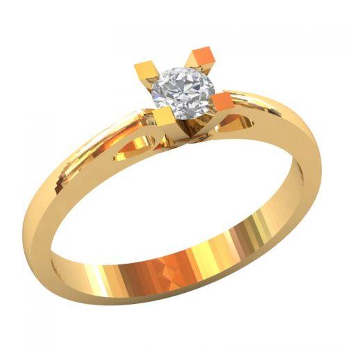 женское помолвочное кольцо с камнем