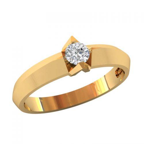 классическое кольцо для помолвки с широким ободком