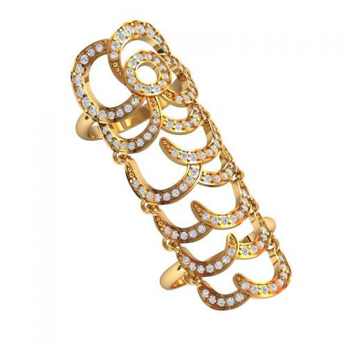 кольцо на весь палец с камнями