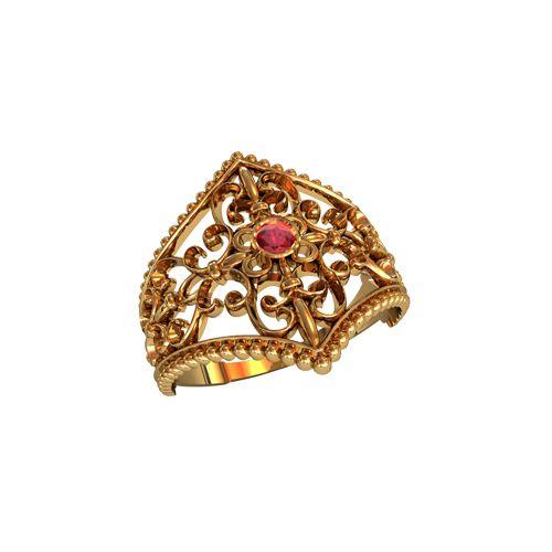 женское кольцо с узорами