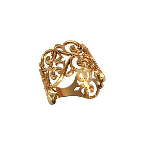 широкое ажурное кольцо без камней