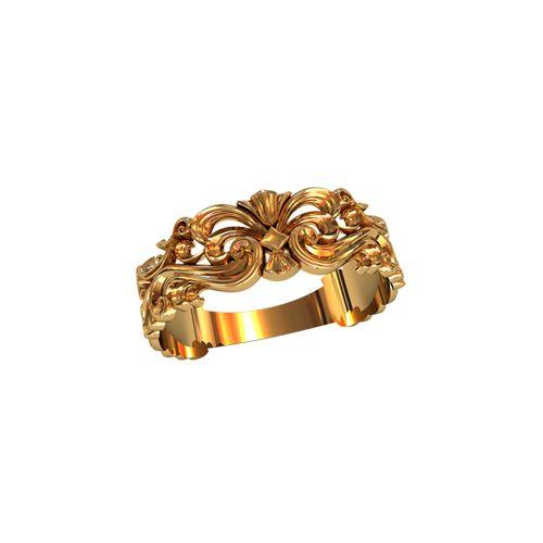 женское ажурное кольцо с узорами