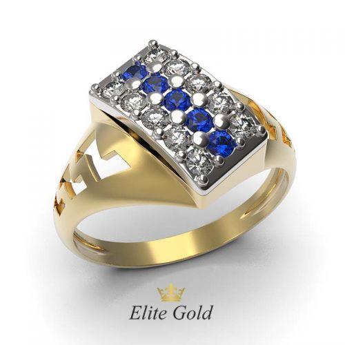 """кольцо """"Garland"""" в белом и желтом золоте"""