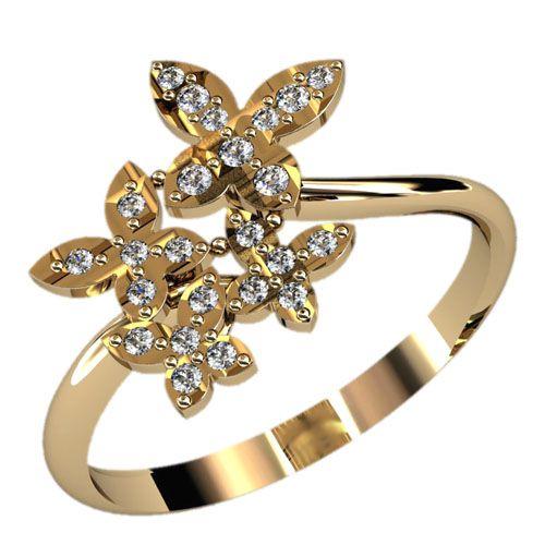 женское кольцо с цветами