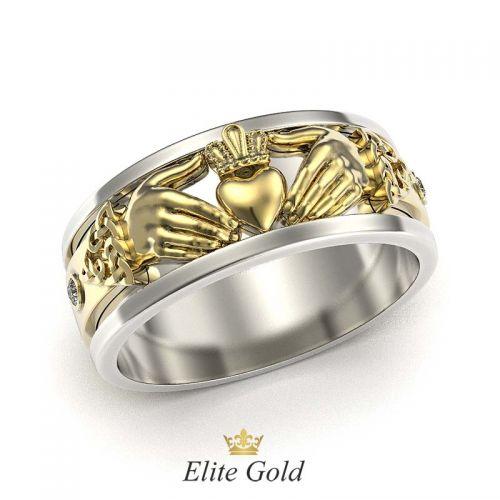 кольцо eternity в двух цветах золота