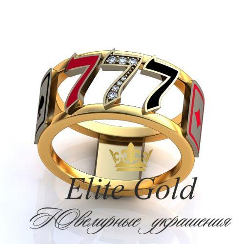 кольцо Casino Royal в 2 цветах золота