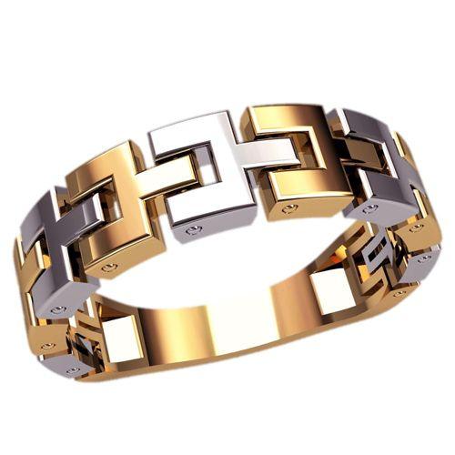 кольцо Nexus в красном и белом золоте