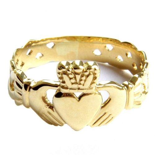 кладдахское ирландское кольцо без камней с плетением