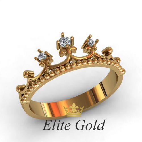 недорогое кольцо корона