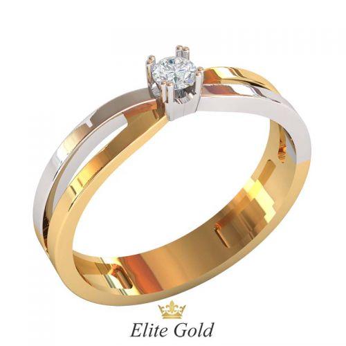 кольцо Adria в 2 цветах золота