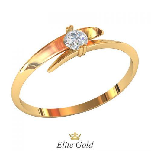 кольцо Lana с белым камнем